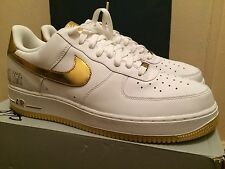 Nike Air Force 1 07 PLAYERS White/Met Gold Size 12 DEADSTOCK SUPREME KITH KAWS