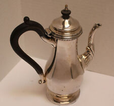 "Sheffield Reproduction Silverplate 9.5""  Coffee Pot with hinged top"