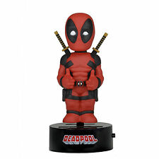 NECA Marvel Body Knocker Deadpool Figure NEW Toys Bobble Head NECA Solar Powered