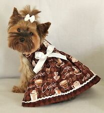 S ~ Coffee Lovers ~Dog dress clothes pet apparel new clothing small Pc Dog®