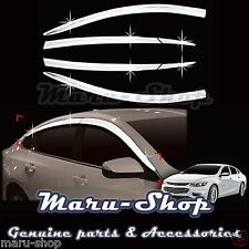 Chrome Door Window Vent Visor Deflector for 16+ Chevrolet Malibu