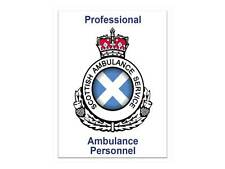 Scottish Ambulance Service Personnel Car Badge / Window Sticker for Paramedic