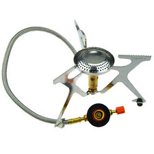 Outdoor Portable Picnic Camping BBQ Gas Stove Butane Hose Burner Stove Cooker