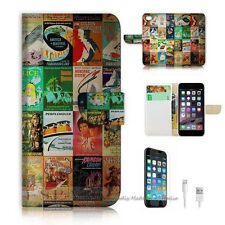 iPhone 6 Plus (5.5') Flip Wallet Case Cover! S8093 Old Book