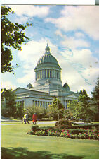 Gov. Albert Rosellini autograph on post card Washington State Capitol
