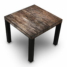 Tische Beistelltisch Couchtisch schwarz Holz Nachttisch Altes Holz 55x55x45cm