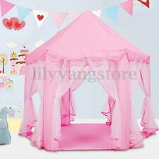 Portable Girls Pink Princess Castle Cute Playhouse Kids Play Tent Outdoor Toys