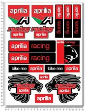 aprilia racing motorcycle decals set 9.4x12.6'' sheet 16 stickers RSV RS Tuono