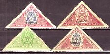 India-Bhopal State 4 Diff. 1A 3P & 1A 6P Service/Postage Mint Triangular #IF388D