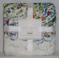 POTTERY BARN Parker Paisley Watercolor KING Duvet Cover, NEW