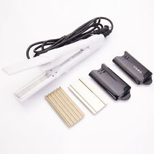 4in1 Electric Hair Curling Straightener Iron Wave Curly Tool White Color US Plug