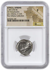 Greek City-State Athens Silver Tetradrachm Athena Collection NGC F SKU42585