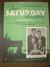 VINTAGE SHEET MUSIC - THE SATURDAY WALTZ - THE STARGAZERS