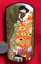 Russian LACQUER Box Klimt hand painted HOPE II Expecting Mother Christening GIFT