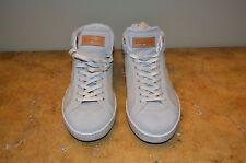 Santoni Grey Suede/Textile Hi Top Mens Sneakers Size 12 (UK 11.5)