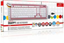 Speedlink Snappy USB Multimedia Tastatur Keyboard | 12 Multimedia Tasten | Pink