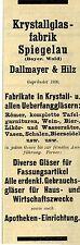 Dallmayer & Hilz Spiegelau KRYSTALLGLASFABRIK Historische Reklame 1912