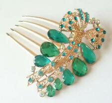 Wedding Party Bridal Crystal Turquoise Bow Tiara Hair Clip Comb Prom Headpiece