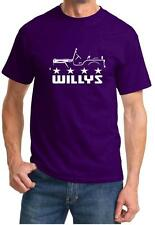 Willys Jeep 4x4 Classic Outline Design Tshirt NEW