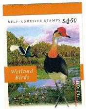1997 AUSTRALIAN STAMP BOOKLET WETLAND BIRDS 10 x 45c STAMPS MUH