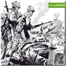 Fiammeggiante Combat gag Warren limita 777 tedesco guerra COMIC Frazetta LP 60er
