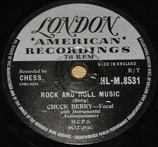 CHUCK BERRY ~ ROCK AND ROLL MUSIC b/w BLUE FEELING ~ UK LONDON 78 RPM E GRADE