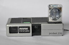 Lomography working 110 Revue Minimatic Pocket 205 w Flash cube