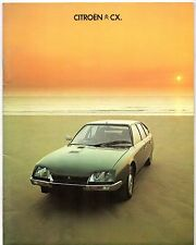 Citroen CX 1977-78 UK Market Sales Brochure Prestige GTi Pallas Super Safari