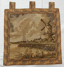 Vintage French Beautiful Tapestry Wall Hanging 57X57cm T46