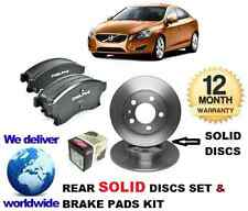FOR VOLVO S60 2.0DT D3 2.4 D5 3.0 T6 10-  REAR BRAKE DISCS SOLID + DISC PADS KIT
