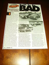 JIM D' ALESSANDRO 1979 MALIBU 454 STREET RACE CAR  ***ORIGINAL 1991 ARTICLE***
