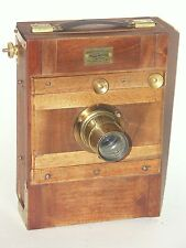 BEAUTIFUL from FRANCE- WOODEN CAMERA with DARLOT LENS  .