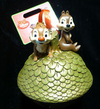 """*NEW/Pics! Disney Christmas Chip 'n' Dale Ornament Bell 2013 5"""" Store Sketchbook"""