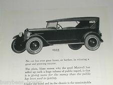 1923 Maxwell advertisement, Maxwell Motor Corp, Touring Car