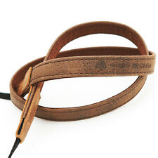NEW MATIN Vintage-15 BRWON DSLR SLR Camera Neck Shoulder Leather Strap