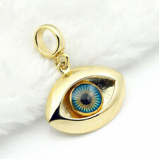 Turkish Evil Eye Pendant  Necklace 18K Gold Woman Man Kabbalah Greek Judaica