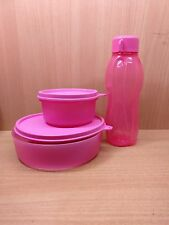 Tupperware Tiffin Lunch Box Office School Bowls 2 bowls n 1 310 ml bottle PINK