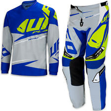 "UFO 2017 Revolt Race Kit MX ENDURO Pants 34"" Jersey Large Combo Grey Blue"