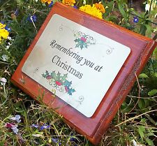 Solid Wooden Memorial Stake Grave/Tree Marker Cremation with Changeable Plate