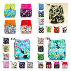Washable Baby Nappy Pocket Reusable Cloth Diaper Replaceable Banboo Charcoal