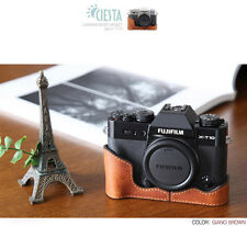 Ciesta Leather Half Case Fuji XT10 Giano Brown
