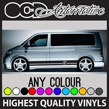 VW TRANSPORTER T5 LOGO SIDE STRIPES GRAPHICS STICKER DECALS T4 T5 T6