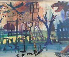 Abstraktes Gemälde/ Mischtechnik  signiert Holenstein ..