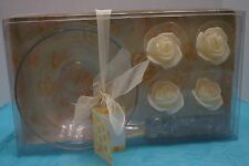 Floating Rose Candles with Jewels and Bowl Gift Set