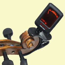 PRO Chromatic Violin Tuner 4/4 3/4 1/4 1/2 1/8 Violin Head Tuner FREE SHIPPING