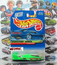 Hot Wheels 1998 #717 Hydroplane NEON GREEN+BLACK,BLACK MGW,BLACK BASE