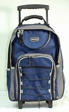 """Blue 20"""" Large Rolling Backpack Wheeled School Bookbag FREE SHIPPING"""
