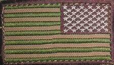 "Condor - Reverse American Flag Patch - 2"" x 3""inch Multicam with Velcro Back"