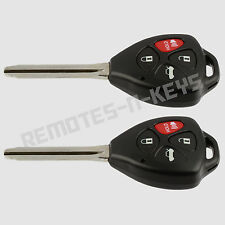 2 New Uncut Replacement Ignition Keyless Entry Car Key Remote Head for HYQ12BBY