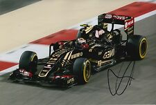 Pastor Maldonado Hand Signed 12x8 Photo 2015 Lotus F1 16.